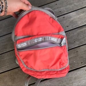 Lesportsac orange backpack